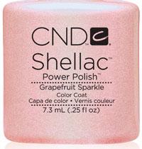 ★CND シェラック UVカラーコート 7.3ml113 グレープフルーツスパークル