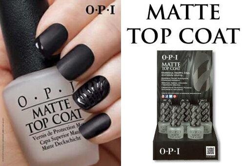 ★OPI(オーピーアイ) マットトップコート 8本 ディスプレー 美しく鮮やかな発色と光沢を数週間キープします。
