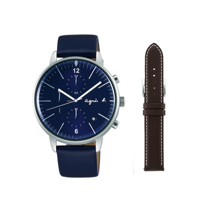 期間限定/ アニエスベー agnes b. 腕時計 メンズ クロノグラフ FCRT973【正規品】【】【楽ギフ_包装】