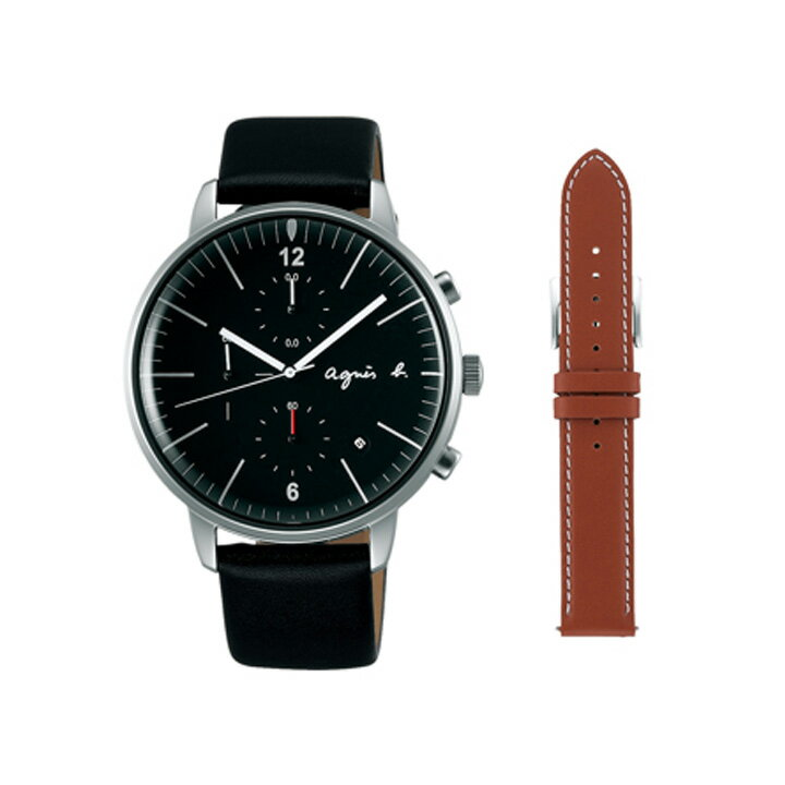 期間限定/ アニエスベー agnes b. 腕時計 メンズ クロノグラフ FCRT972【正規品】【】【楽ギフ_包装】