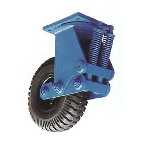 末廣車輌(スエヒロ) UNE-SP型 スプリングタイヤキャスター 自由車 牽引用 許容荷重550kg