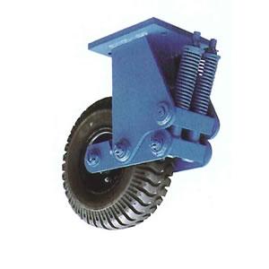 末廣車輌(スエヒロ) UNU-SP型 スプリングタイヤキャスター 固定車 牽引用 許容荷重550kg