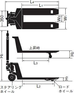 をくだ屋技研(O.P.K)標準型キャッチパレットトラックCP-13L-100[配送制限商品]