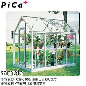 ピカ(Pica) 屋外用温室 プチカ WP-15DW 1.5坪 アルミ製 全面半強化ガラス 両ドアタイプ [大型・重量物]