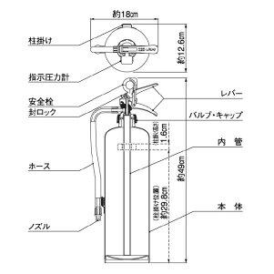 ヤマトプロテック2016年製蓄圧式消火器10型YA-10XIII(1〜3本単価)業務用粉末ABC消火器【在庫有り】【あす楽】