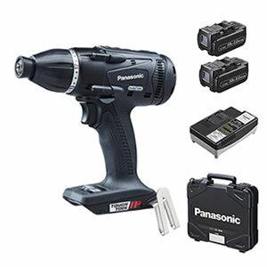 パナソニックDual充電マルチインパクトドライバー18V5.0AhEZ75A9LJ2G-B(黒)(電池2個・充電器・ケース付)