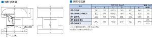 鎌倉製作所ルーフファン直付形給気形RFS-20HKモーター仕様:3φ・200V・6P・0.4kW周波数選択ファン径:50cm