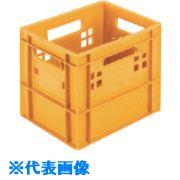 ■ヒシ 乳業用コンテナ 橙黄 OY 500個入〔品番:M-12G〕[TR-1364806×500][送料別途見積り][法人・事業所限定][掲外取寄]