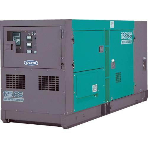 ■デンヨー 超低騒音型ディーゼル発電機 〔品番:DCA-125ESK〕[TR-1479060]【大型・重量物・個人宅配送不可】
