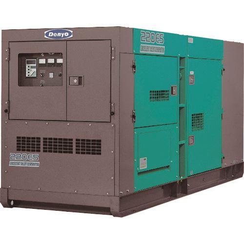 ■デンヨー 超低騒音型ディーゼル発電機 〔品番:DCA-220ESK〕[TR-1479062]【大型・重量物・個人宅配送不可】