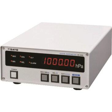 ■佐藤 デジタル気圧計 SK-500B (7630-00)〔品番:SK-500B〕[TR-1662767]【個人宅配送不可】