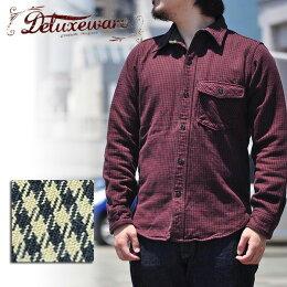 デラックスウエアDELUXEWAREHV-27STAROFDAVID千鳥格子シャツシャツジャケットネルシャツ