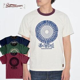 DELUXEWAREデラックスウエアTシャツDLT-2005THEWHEELメンズ半袖4色M-XLアメカジ