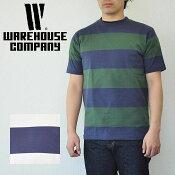 ウエアハウスWAREHOUSETシャツLot4052半袖4インチボーダーTボーダーWAREHOUSEウエアハウス