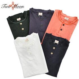 TWOMOONトゥームーン24223ヘンリーネックTシャツ