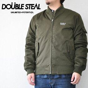 ダブルスティールDOUBLESTEALジャケットMILITARYBLOUSONメンズ緑M-XL775-49206