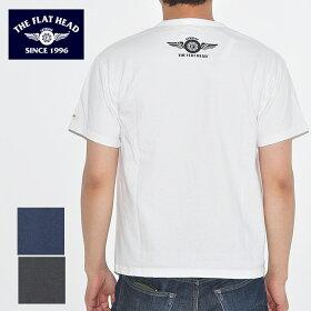 フラットヘッドTHEFLATHEADTシャツTHC-003SMALLFLYINGWHEELメンズ半袖白/黒/ネイビー404244