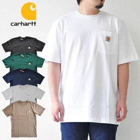 カーハートTシャツPOCKETS/STEEポケットTシャツ半袖ロゴ白黒緑紺グレーベージュcarharttK87RN14806