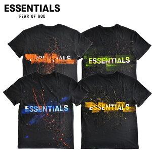 FOGESSENTIALSエッセンシャルズTシャツShinExclusiveREMAKE黒クリームS-XLリメイクFearofGodストリート