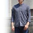 チェスト Che-St 七分袖 シャツ メンズ 56053 ボタンダウンシャツ チェックシャツ 日本製