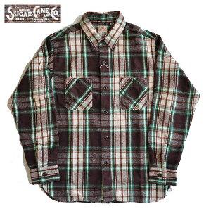 SUGARCANEシュガーケーンネルシャツTWILLCHECKL/SWORKSHIRT長袖シャツワークシャツメンズS-LSC28501