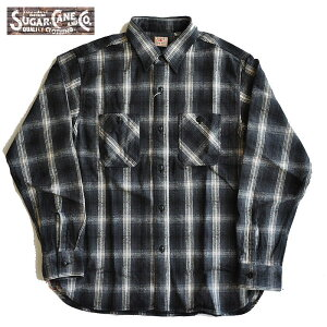 SUGARCANEシュガーケーンネルシャツTWILLCHECKL/SWORKSHIRT長袖シャツメンズS-LSC28500