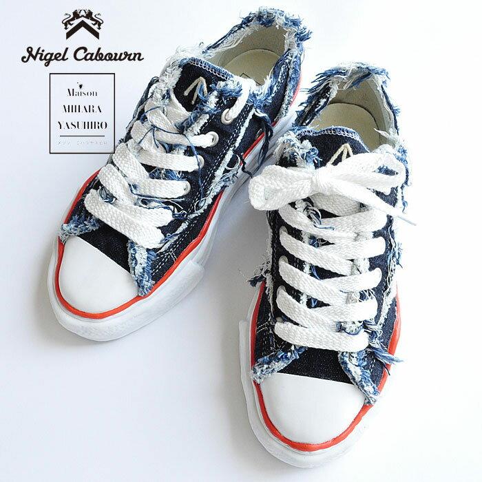 メンズ靴, スニーカー Nigel Cabourn MIHARA YASUHIRO LOW CUT ONE WASH 12oz DENIM
