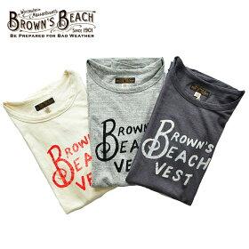 BROWN'SBEACHブラウンズビーチTシャツBROWN`SBEACHTEE1M-L白/黒/グレーロゴアメカジメンズBBJ9-011