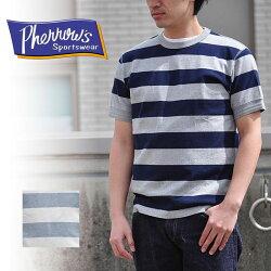 フェローズPHERROW'STシャツボーダーTシャツクルーネック17S-PCT3-S-B半袖