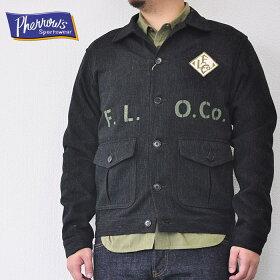フェローズPHERROW'Sジャケットコットンウールワークジャケット18W-PWJ1-E黒M-XLメンズアメカジ