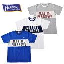 Pherrow's フェローズ Tシャツ 19S-PCY1 青/白/グレー M-XL 半袖 アメカジ
