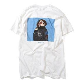 LafayetteラファイエットTシャツBOMBERJACKETGIRLSTEES-XXL黒白半袖LA190106メンズストリート