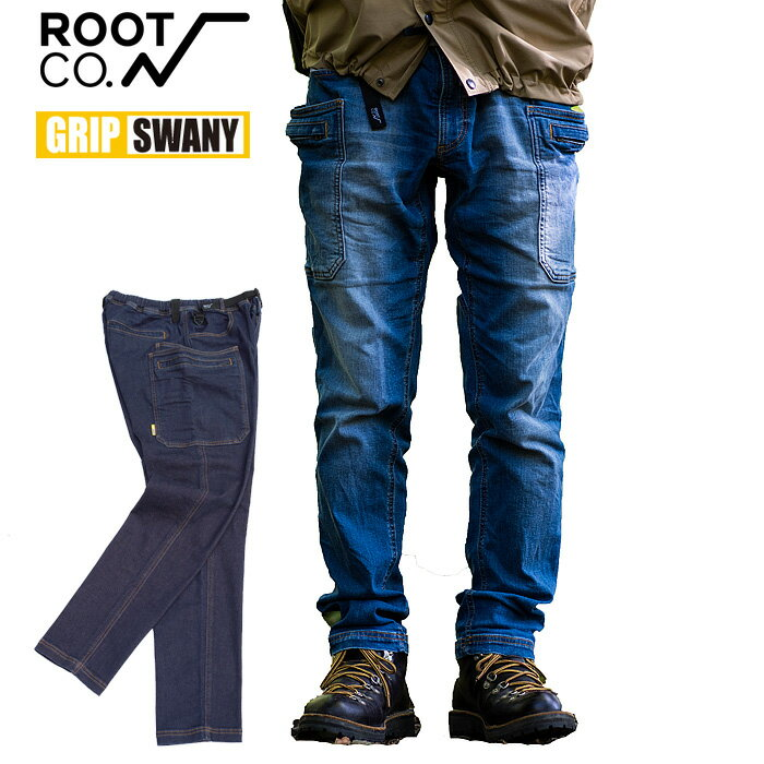 ROOT CO. GRIP SWANY STRETCH DENIM PANTS ROOT CO. Collaboration Model