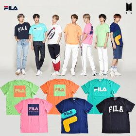 FILABTS着用モデルTシャツフィラロゴ半袖Tシャツワンサイズフリーユニセックス