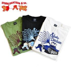 ダルチザンSTUDIOD'ARTISANTシャツUSAコットンプリントTシャツ9998A半袖M-XLステュディオダルチザン
