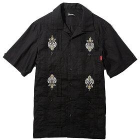 SUBCIETYサブサエティシャツCUBASHIRTM-XL黒半袖メンズストリート系109-22392