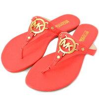 マイケルコース靴MICHAELKORSMKサフィアーノレザートングサンダルフラットパンプスマンダリン25cm40S4MCFA3L