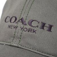 コーチ帽子COACHジャガードワンポイントロゴキャップ帽子オリーブ85699