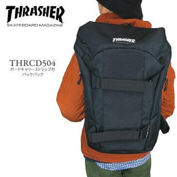 【50%OFF!】THRASHER スラッシャー THRCD504 ボードキャリーストラップ付き マグロゴ バックパック リュック