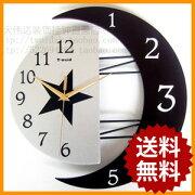 掛け時計 デザイン おしゃれ ウォール クロック ブラック インテリア プレゼント