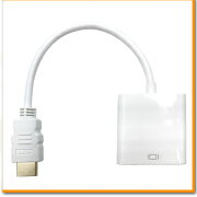アダプター ホワイト アダプタ ケーブル パソコン モニター コネクタ