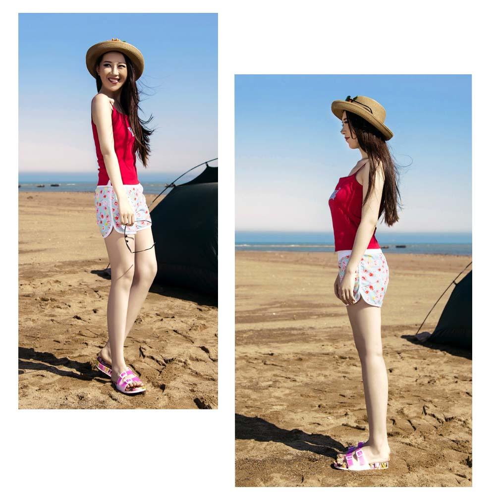 【Palmwave】水着サーフパンツショートパンツレディース女性用海パン花柄アロハハワイ風大きいサイズスイムショーツかわいいおしゃれPW104Flower