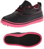 【レディース】クロックス crocs ALLCAST DUCK オールキャスト ダック  スパイクレス ゴルフシューズ 15068-02T Black/Hot Pink ブラック/ホットピンク