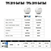テーラーメイド2019年TP5シリーズ5ピースゴルフボール1ダース(12個入)[TaylorMade2019TP5SERIES5-PIECEGOLFBALL]USモデル
