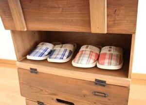 送料無料玄関収納シューズラックシューズボックス下駄箱靴箱玄関収納カントリー家具シェルフラックスリッパラック靴収納木製家具整理棚カントリーアンティーク北欧カフェレトロシャビーシック完成品かわいいパタパタラック