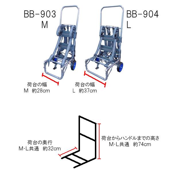 背負子アルミキャリーカートBB-903(Mサイズ)バックパック(釣り具)