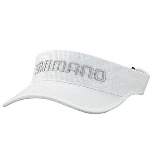 シマノベーシックサンバイザーホワイトCA-063T(フィッシングキャップ)