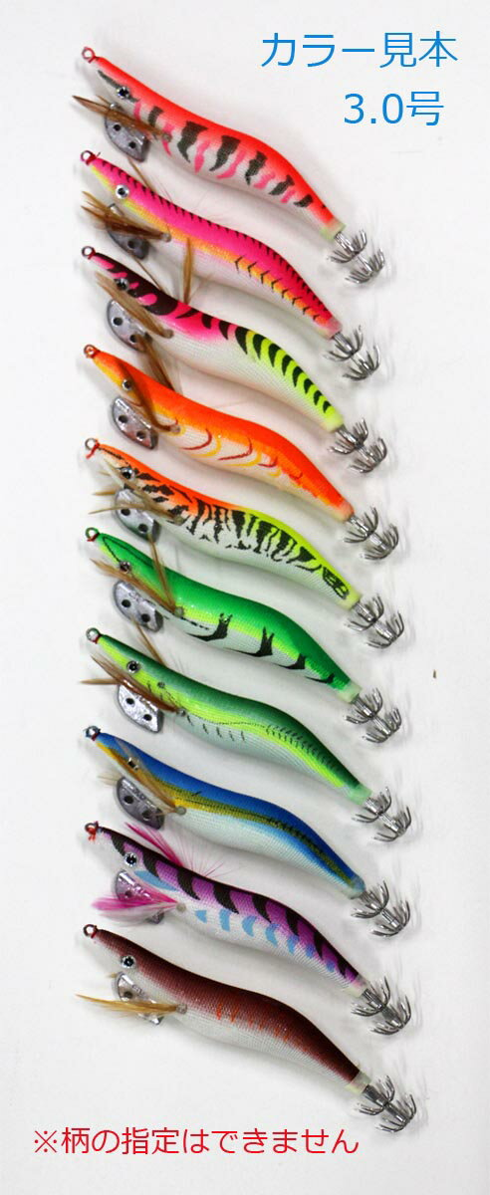エギ セット 20本 2.5/3.0号各10本 R20egi2530hRD20m アオリイカ等イカ釣り用エギセット 釣り具 エギング セット