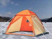 ★送料無料★◆ ワカサギ テント ワンタッチテント 210 オレンジ