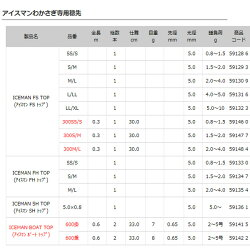 【アルファタックル】アイスマンFHトップ(扁平ホスボン)S/M